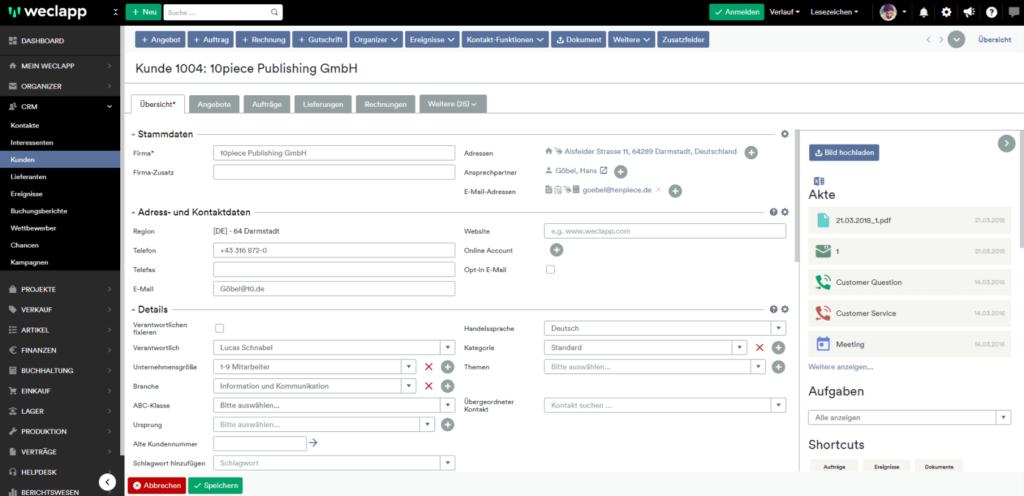 Kundenmanagement cloud CRM