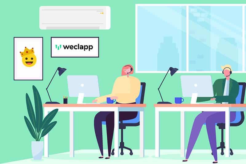 Kundensupport-team weclapp