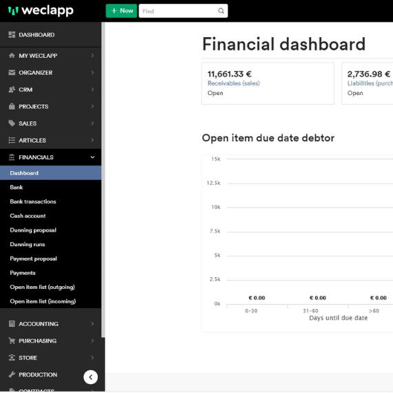 finance dashboard
