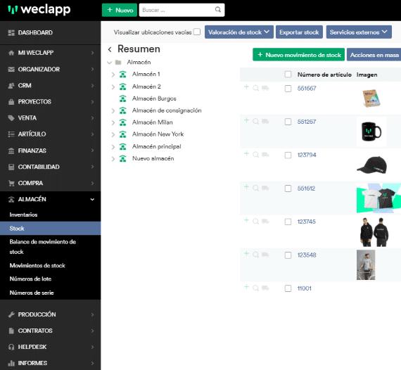 weclapp software stock es