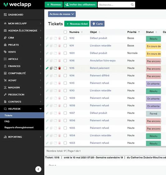 Vu logiciel - Helpdesk