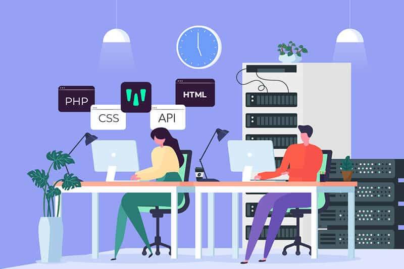 Une équipe informatique